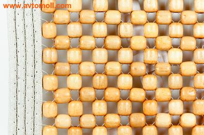 Массажная|охлаждающая накидка с деревянными косточками (фото, вид 2)