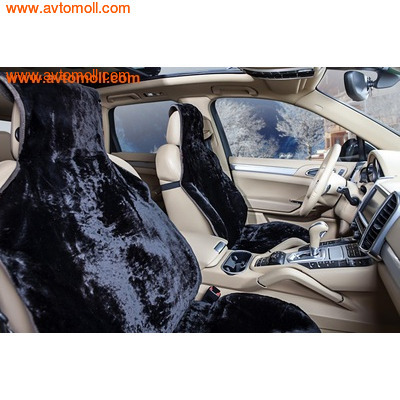 Накидка меховая на автомобильное сиденье из облагороженного мутона (фото, вид 1)
