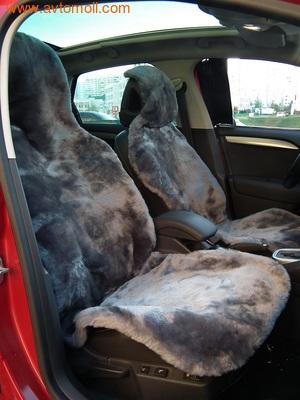 Накидки меховые на автомобильные сидения (фото, вид 2)