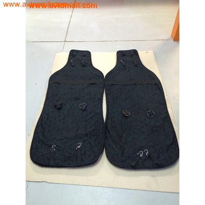 Комплект накидок из меха Черного цвета (2 шт) (фото, вид 3)