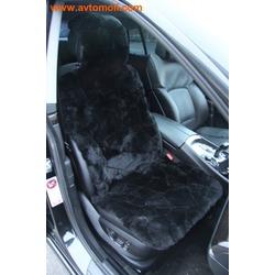 Меховая накидка из натурального кускового меха (овчина) на переднее сиденье автомобиля