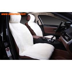 Меховая накидка из натурального меха (овчина) на переднее сиденье автомобиля