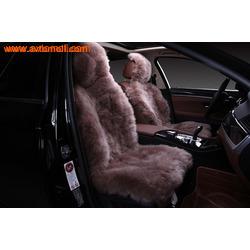 Меховая накидка из натурального меха (овчина) на сиденье автомобиля