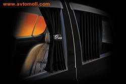 """Автомобильные шторки. Комплект штор """"PREMIUM/VESTITO"""" - M (высота 35-44 см), длина штор 70 см"""