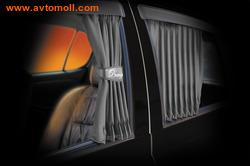 """Автомобильные шторки. Комплект штор """"PREMIUM"""" - М (высота 37-42 см), длина штор 70 см."""