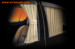 """Автомобильные шторки. Комплект штор """"PREMIUM"""" - L (высота 42-47 см), длина штор 70 см"""