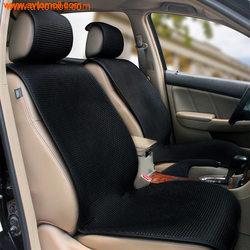 Накидка на сиденье автомобиля Черного цвета. Холодный шелк.