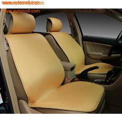 Накидка на сиденье автомобиля Бежевого цвета. Холодный шелк.