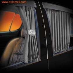"""Автомобильные шторки. Комплект штор """"PREMIUM"""" - S (высота 32-37см), длина штор 70 см."""