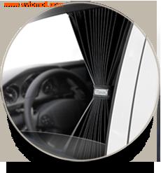 """Автомобильные шторки. Комплект шторок """"VIP"""" - M (высота 42-48 см), длина штор 70 см."""